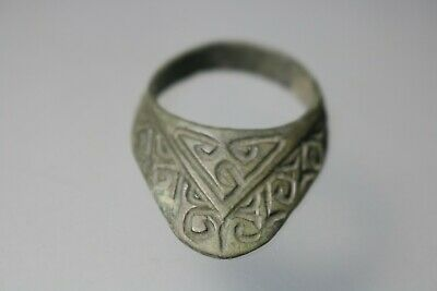 Unique Roman Bronze Archer`S Legionary Ring  1st - 4th Century AD