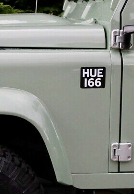 HUE 166 Land Rover Sticker Decal, DEFENDER 90, 110, LR3, RANGE ROVER, DISCOVERY