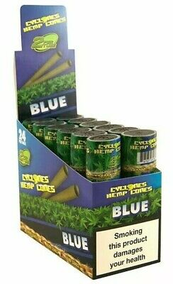 Cyclones Xtra Slo Blue Flavoured Pre Rolled Cone Blue 24 Pieces Fast Delivery