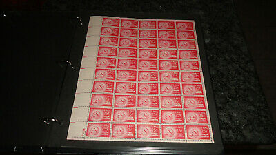 Us #c44 Stratocruiser & Globe Full Mint Sheet Of 50 Mnh Issued In 1949