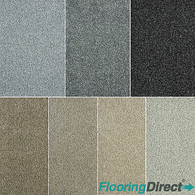 Quality Saxony Shag Pile Carpet - Soft Feel - Stain Resistant - Flecked Pile