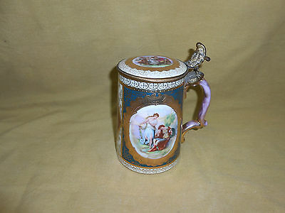 Royal Vienna Antique Lided Tankard