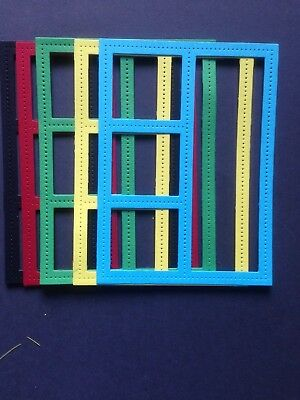 6 Various Coloured Open Frames Diecuts - Great for Cardmaking and Scrapbooking