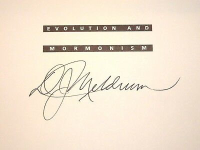 Evolution and Mormonism A Quest for Understanding Signed 2001 LDS Mormon PB