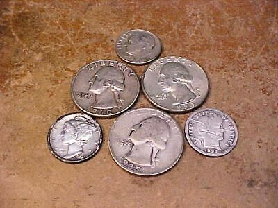 $1.05 Face Value-90% Silver U.S. Coin Lot - Quarters And Dimes