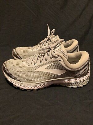 5bf0dca81f0 Women Brooks Ghost 10 Running Shoes Sneakers Gray  White 9.5 M 1202461B144