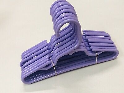 12 Purple Plastic Doll Hangers Fits 18 Inch American Girl Doll Clothes BABW