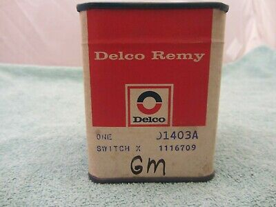 Nos Vtg  Chevrolet 1116709 D1403A Delco Remy Ignition Switch, 1967-1972 *sealed*