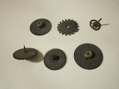 6pcs lot  ANTIQUE CLOCK PARTS  WHEELS, GEARS & COGS  STEAMPUNK ART