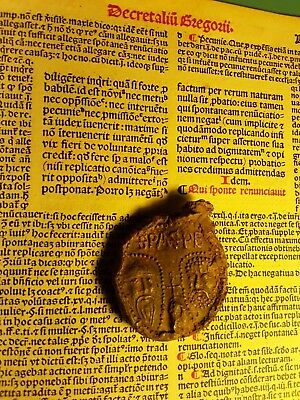 POPE GREGORIUS IX DECRETALES LEAF & BULLA LEAD SEAL Papstbulle - 1227/1241 - LOT