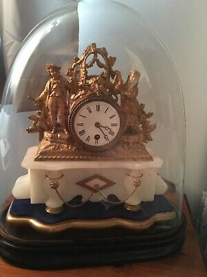 French Antique Domed Table Clock Cirrca 1890 Approx