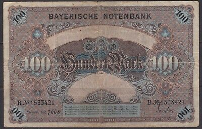 Germany 100 mark banknote circulated 1900
