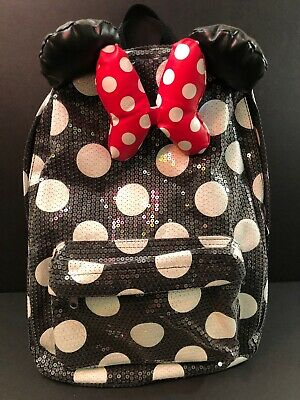 DISNEY PARKS - MINNIE MOUSE SEQUIN POLKA DOT BACKPACK e229ffd40ff27
