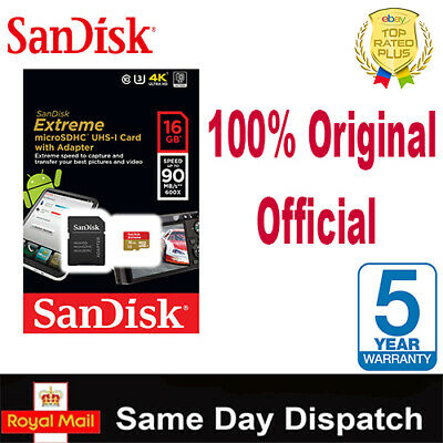 100% Genuine SanDisk Ultra / Extreme Micro SD Memory Card 8,16gb,32gb,64,128gb