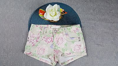 729f67be6 Mossimo Supply Target Junior Girls Floral Mini Shorts Size 3 Fit 6 Casual  1W25