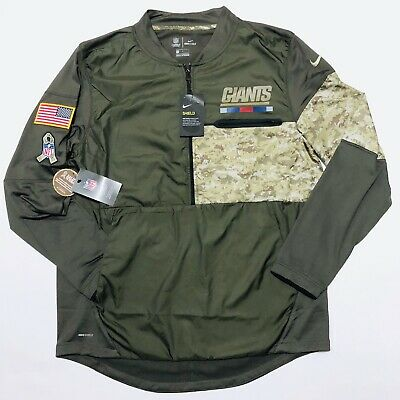 competitive price 42dd4 ea78a NWT NIKE SHIELD New York Giants NFL Salute To Service 1/2 Zip Jacket Mens  Green