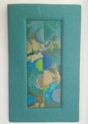 VINTAGE MID CENTURY WOOL and FABRIC WALL HANGING ART DECORATION