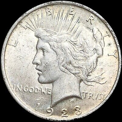 1923 Peace Silver Dollar UNCIRCULATED BRILLIANT Coin Highly Free Ship no Reserve