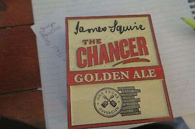 Tap Beer JAMES SQUIRE THE CHARGER   Metal Badges