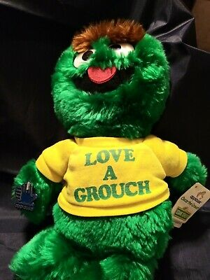"d213df3de Sesame Street Oscar The Grouch #5940 Vintage 13"" Stuffed Plush Applause"