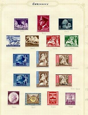 Weeda Germany B200//C19 Mint collection, 1922 to 1945 issues, mostly sets CV$44+
