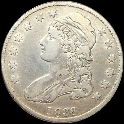 1836 Capped Bust HALF Dollar, Beautiful Lightly circulated Coin. No Reserve!!