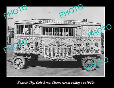 OLD 6 X 4 HISTORIC PHOTO OF KANSAS CITY, COLE BROTHERS CIRCUS CALLIOPE c1940s