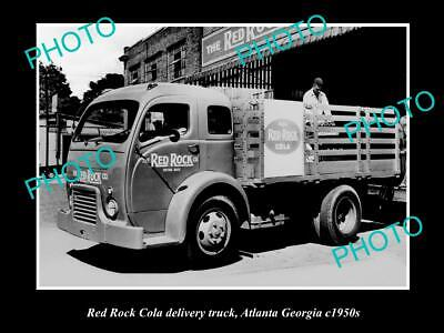 OLD 6 X 4 HISTORIC PHOTO OF RED ROCK COLA DELIVERY TRUCK, ATLANTA GEORGIA c1950