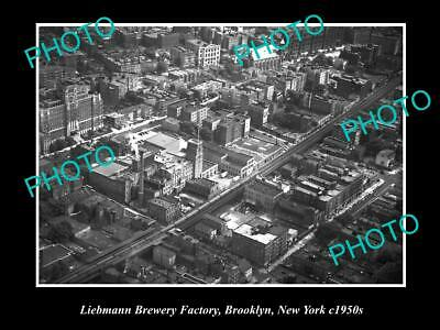Old 6 X 4 Historic Photo Of The Liebmann Brewery Factory, Brooklyn New York 1950