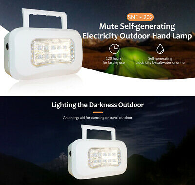 Portable Sea Energy Powered LED Camping Hiking Hand Lamp Rechargeable Spotlight