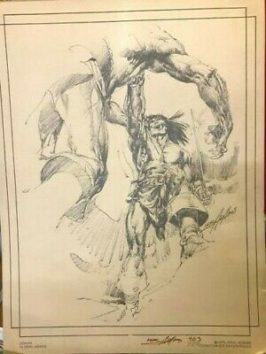 1976 CONAN the Barbarian Signed & Numbered Ltd. Ed. Neal Adams #403/750
