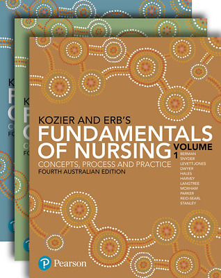 NEW -  3 DAYS to AUS - Kozier and Erb's Fundamentals of Nursing by Berman (4 Ed)