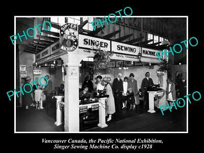 POSTCARD SIZE PHOTO OF CANADA INDUSTY VANCOUVER SINGER SEWING MACHINES c1928