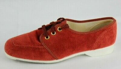 Vintage Hush Puppies women's loafer red shoes laces made in USA size 6