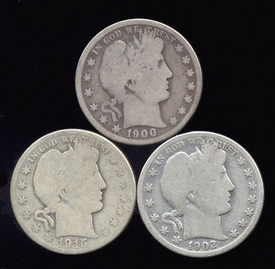 3 Different Barber Half Dollars (09-311*) FREE SHIPPING