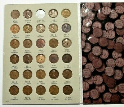 1909-2018 p d s wheat steel bu memorial shield Lincoln penny set cent collection