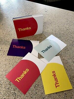 """4-Color, eBay-Branded 5.5"""" x 4"""" Thank You Postcards Multi-Pack! (New!)"""