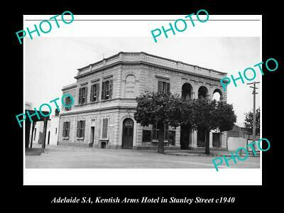OLD 6 X 4 HISTORICAL PHOTO OF ADELAIDE SA, KENTISH ARMS HOTEL,STANLEY St 1940