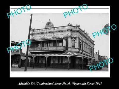OLD 6 X 4 HISTORICAL PHOTO OF ADELAIDE SA,CUMBERLAND ARMS HOTEL WEYMOUTH St 1940