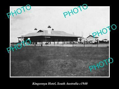 OLD 6 X 4 HISTORICAL PHOTO OF THE KINGOONYA HOTEL, c1940 SOUTH AUSTRALIA