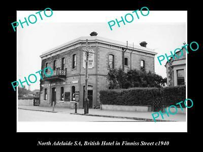 OLD 6 X 4 HISTORICAL PHOTO OF NORTH ADELAIDE SA, BRITISH HOTEL, FINNIS St 1940