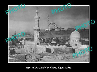 OLD POSTCARD SIZE PHOTO OF EGYPT THE CITADEL IN CAIRO c1915