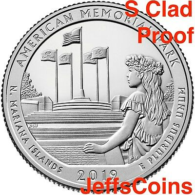 2019 S American Memorial Park Northern Mariana Islands Quarter CLAD PROOF USMint