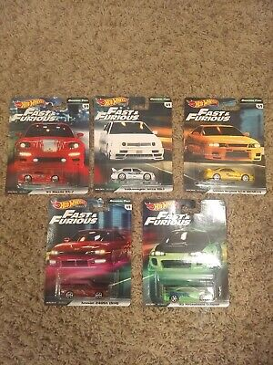 2019 Hot Wheels Premium Fast And Furious - Original Fast - COMPLETE SET 5/5.