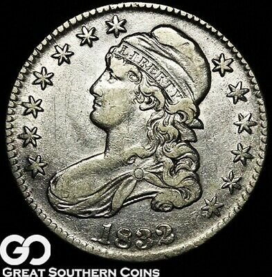 1832 Capped Bust Half Dollar, Some Mint luster, AU+ Early Silver Half