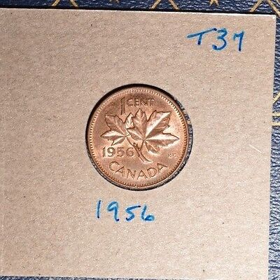 1956 High Grade Penny from old barn roll find - see scans  - inventory# T37