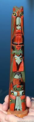 Fine Old Northwest Coast Salish Kwakiutl Nuu-Chah-Nulth Indian Cedar Totem C1930