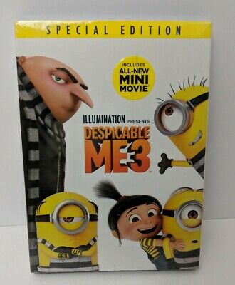 Despicable Me 3 DVD - Special Edition - Includes New Mini Movie - Free Shipping
