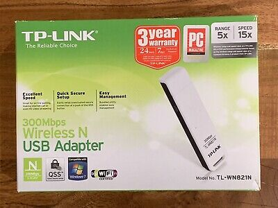 TP-Link TL-WN82IN 300Mbps Wireless N USB Adapter v3.1 Compatible with Windows PC