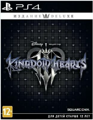 Kingdom Hearts Iii 3 Deluxe Edition Ps4 Game Playstation 4 New Sealed Free Ship